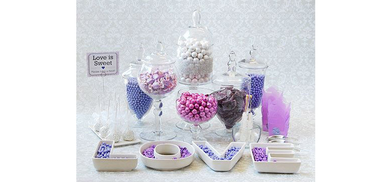 lovely purple candy buffets