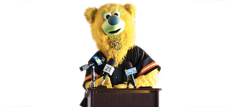 public speaking bear